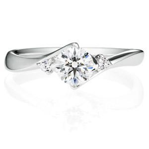 PT900 クチュリエ デュオ  ダイヤモンド サイドストーン リング 0.5ct