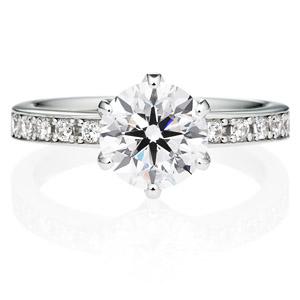 PT950 アベニュー 6ポイントセッティング  ダイヤモンド エタニティタイプ リング 1.5ct