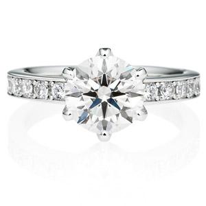 PT950 アベニュー 6ポイントセッティング  ダイヤモンド エタニティタイプ リング 2.0ct