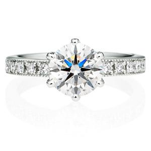 PT950 アベニュー 6ポイントセッティング  ダイヤモンド エタニティタイプ リング ミルグレイン 1.5ct