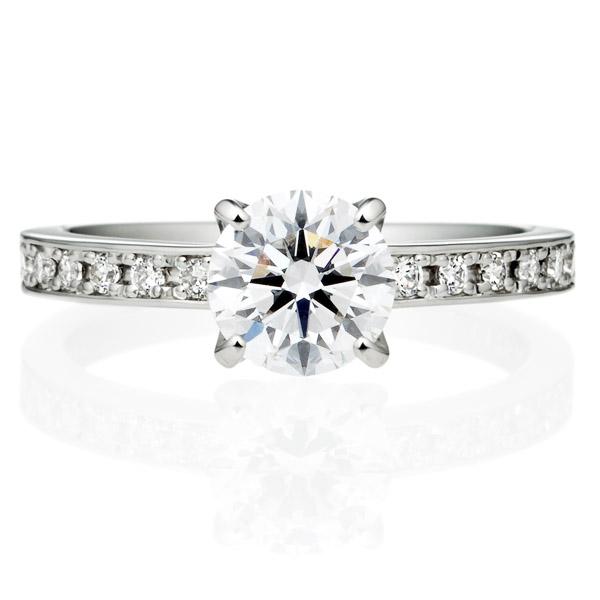 PT950 アベニュー 4ポイントセッティング ダイヤモンド エタニティタイプ リング 1.0ct