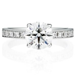PT950 アベニュー 4ポイントセッティング ダイヤモンド エタニティタイプ リング 1.5ct