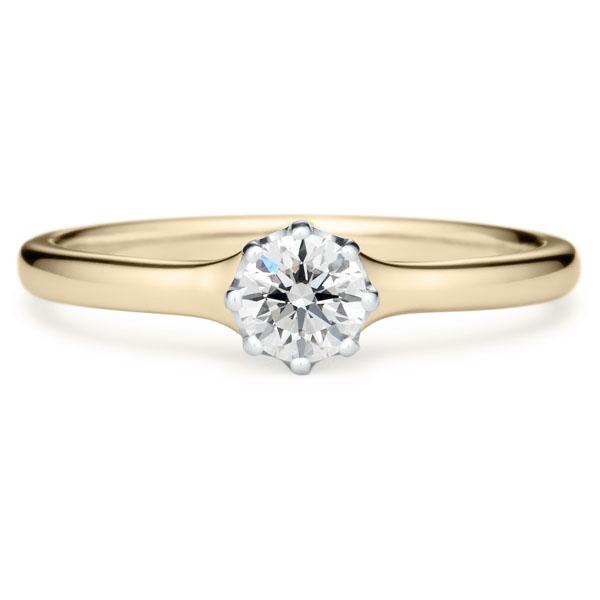 シャンパンゴールドの婚約指輪