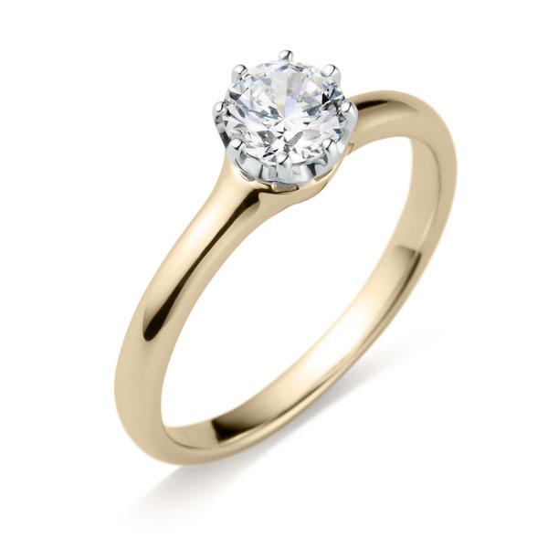 シャンパンゴールドの婚約指輪「ヴィダー」
