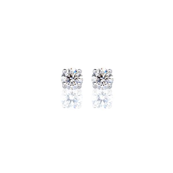 PT900 ダイヤモンド 4本爪 スタッドピアス for 0.3ct アイコニック