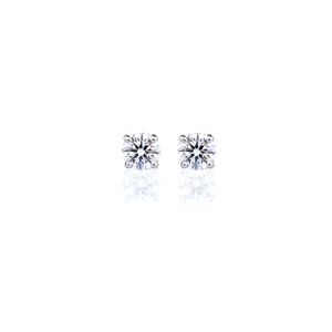 PT900 アイコニック4ポイント ダイヤモンド スタッド ピアス 0.2ct