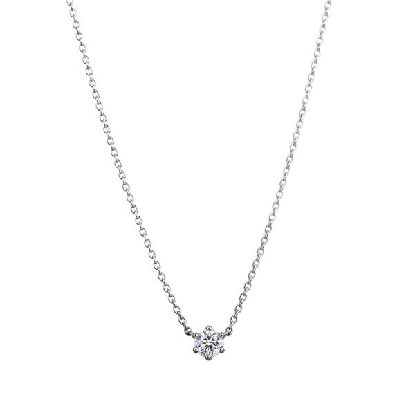 PT950 アイコニック6ポイント ダイヤモンド ペンダント 0.15ct