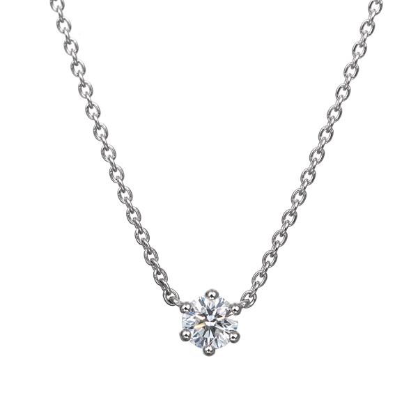 PT900 0.15ct ダイヤモンド 6ポイント ネックレス アイコニック