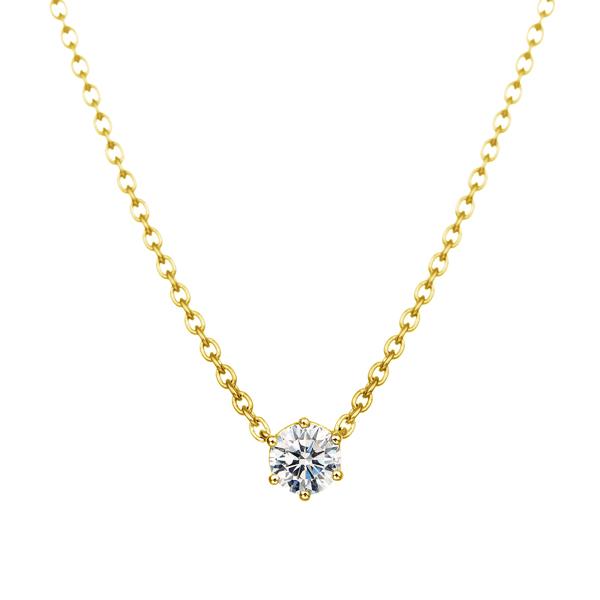 K18YG 0.1ct ダイヤモンド 6ポイント ネックレス アイコニック