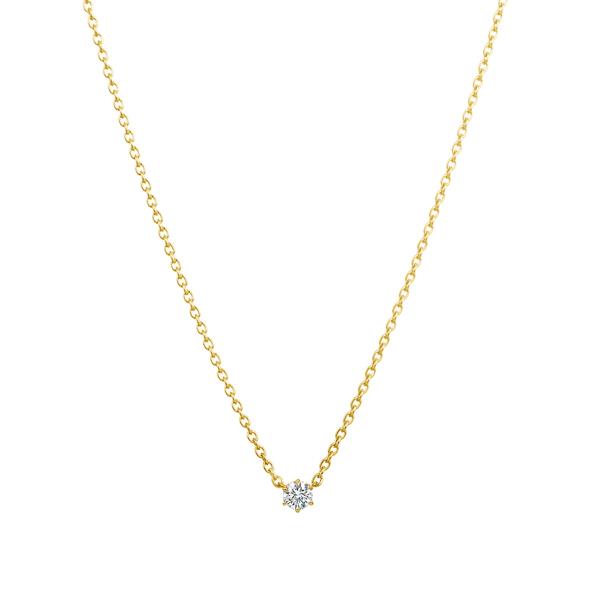 K18YG アイコニック6ポイント ダイヤモンド ペンダント 0.05ct