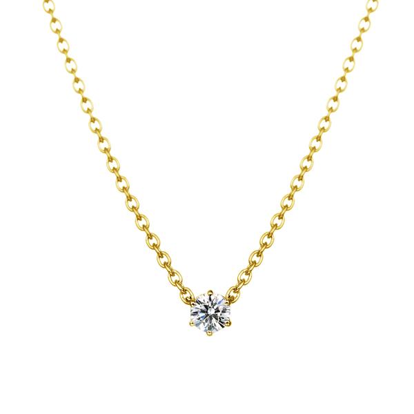 K18YG 0.05ct ダイヤモンド 6ポイント ネックレス アイコニック