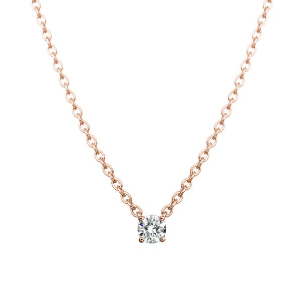 K18PG 0.05ct ダイヤモンド 4ポイント ネックレス アイコニック