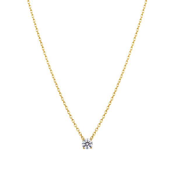 K18YG  アイコニック4ポイント ダイヤモンド ペンダント 0.10ct