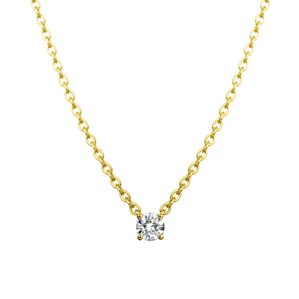 K18YG  アイコニック4ポイント ダイヤモンド ペンダント 0.05ct