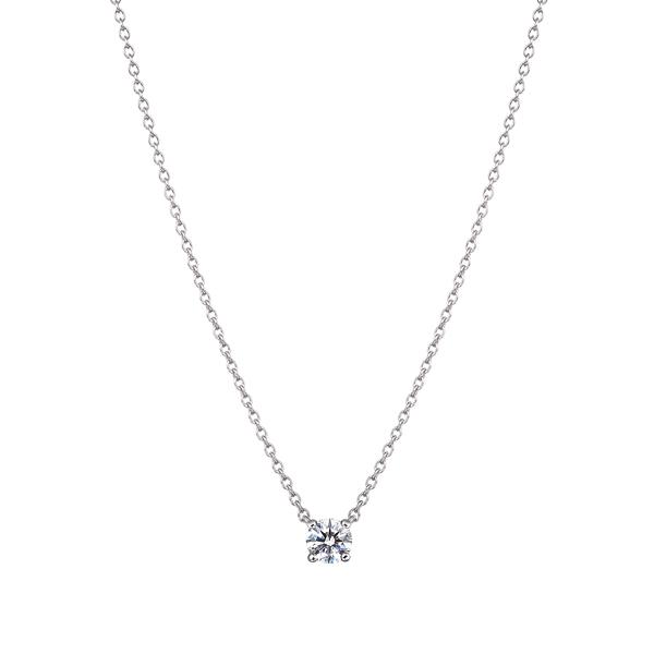 PT900  アイコニック4ポイント ダイヤモンド ペンダント 0.15ct