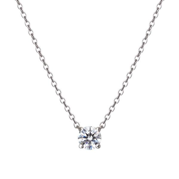 PT900 0.15ct ダイヤモンド 4ポイント ネックレス アイコニック