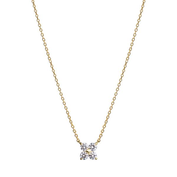 K18YG ステラー フロレット ダイヤモンド ペンダント グラン