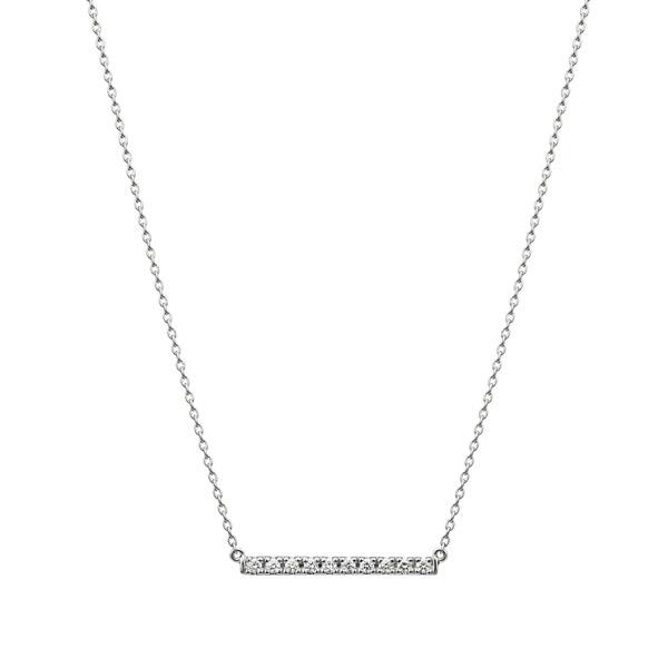 PT950 レクト ダイヤモンド バー ネックレス 40cm