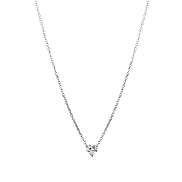PT900 ハートブリリアントカット ダイヤモンド ペンダント 0.15ct