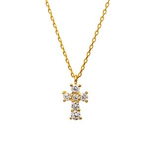 クロス ダイヤモンドネックレス