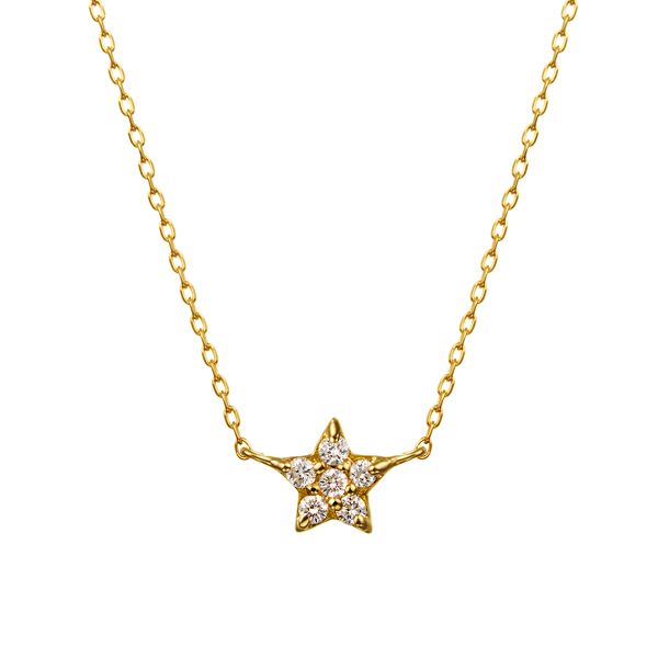 K18YG スターパヴェ ダイヤモンド リヴァーシブル ネックレス