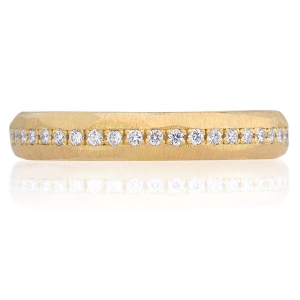 K18YG ヴィンテージ ダイヤモンド ハーフエタニティ リング 3.5mm 4-7