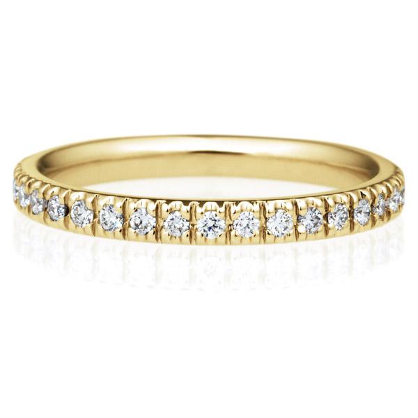 K18YG オーバル ダイヤモンド フルエタニティ リング 2.3mm 4