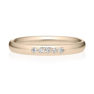 K18CG オーバル ダイヤモンド 5pcs プチエタニティ リング 2.5mm