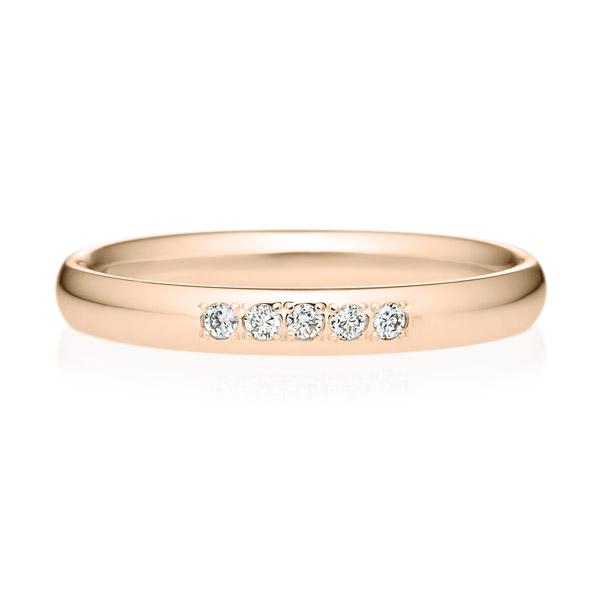 K18PG オーバル ダイヤモンド 5pcs プチエタニティ リング 2.5mm