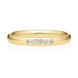 K18YG オーバル ダイヤモンド 5pcs プチエタニティ リング 2.5mm