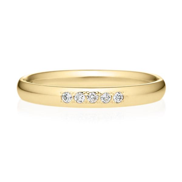 K18YG オーバル ダイヤモンド 5ps プチエタニティ リング 2.5mm