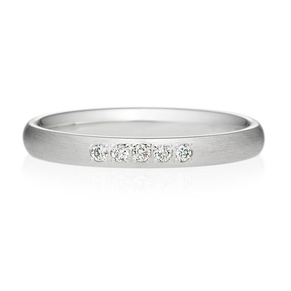 オーバル ヘアーライン ダイヤモンド5ps プチエタニティ