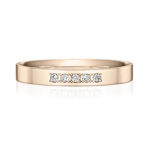K18CG スクエア ダイヤモンド 5pcs プチエタニティ リング 2.5mm