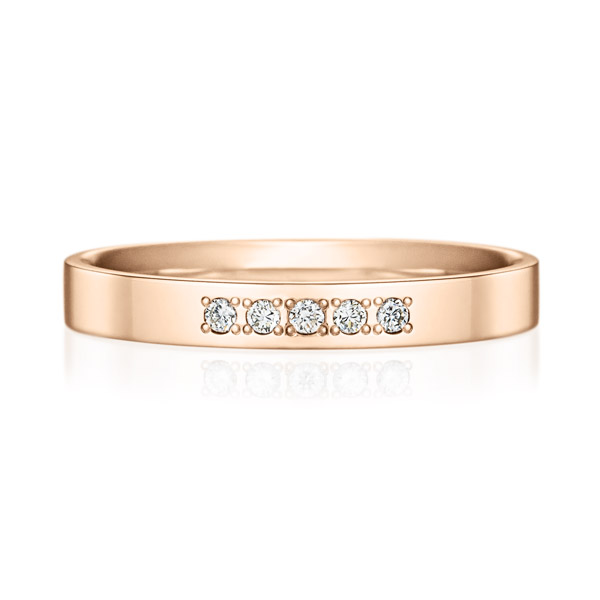K18PG スクエア ダイヤモンド 5ps プチエタニティ リング 2.5mm
