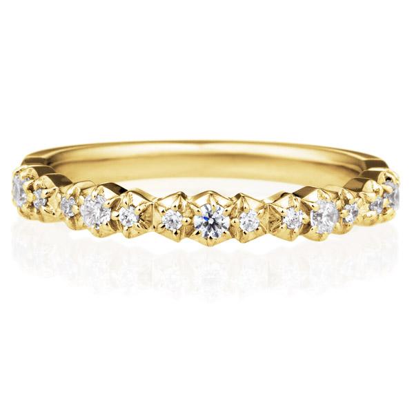 K18YG エトワール アンドゥミ ダイヤモンド エタニティ リング