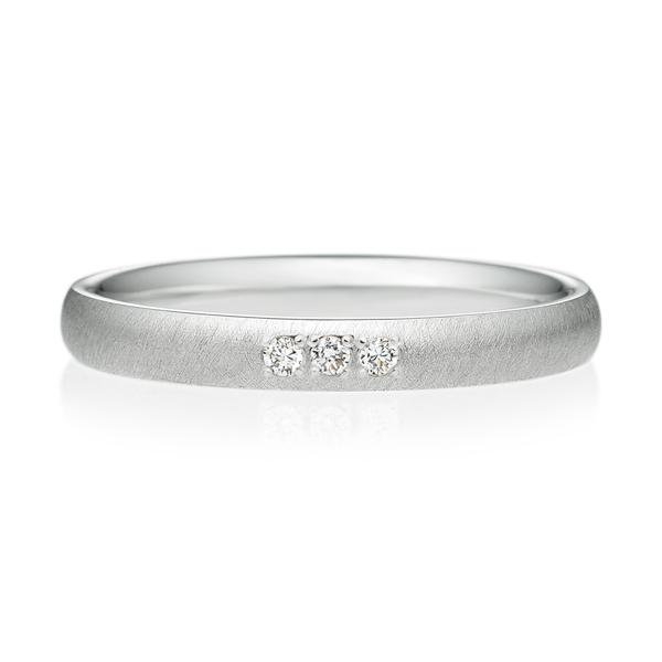 オーバル サティーン ダイヤモンド3ps プチエタニティ