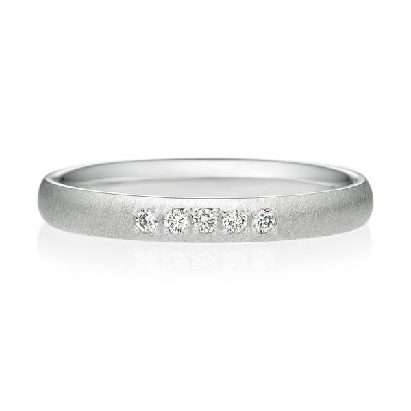 オーバル サティーン ダイヤモンド5ps プチエタニティ
