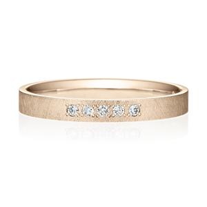 K18CG スクエア ダイヤモンド 5pcs プチエタニティ リング サティーン  2.5mm