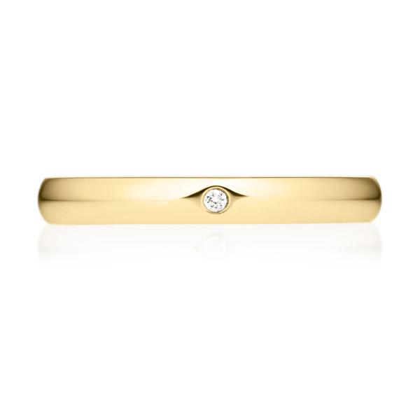 K18YG オーバル ダイヤモンド 1pc リング 2.5mm 4-14