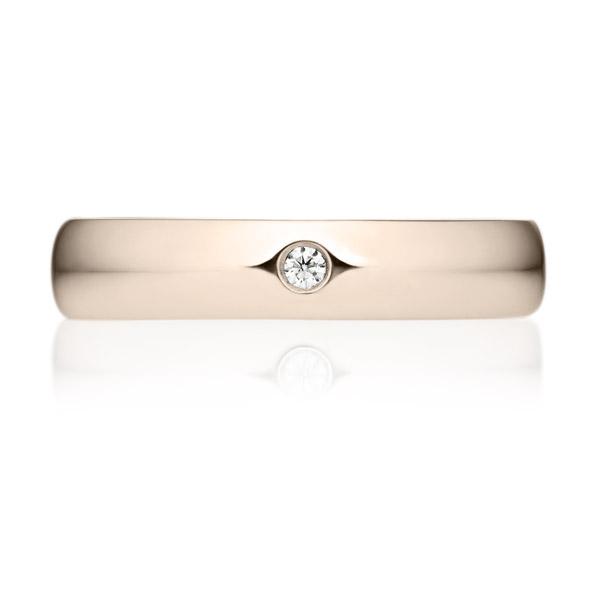 K18CG オーバル ダイヤモンド 1pc リング 4.0mm 4-14