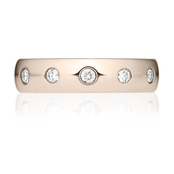 K18CG オーバル ダイヤモンド 5pcs リング 4.5mm 4-14