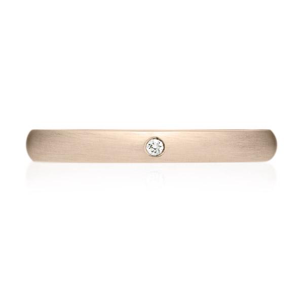 K18CG オーバル ダイヤモンド 1pc リング ヘアーライン 2.5mm 4-14
