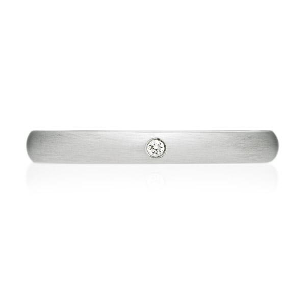 PT950 オーバル ダイヤモンド 1pc リング ヘアーライン 2.5mm 4-14