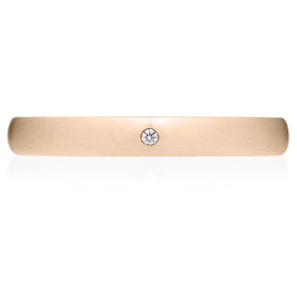 K18PG オーバル ダイヤモンド 1pc リング ヘアーライン 3.0mm 14.5-20