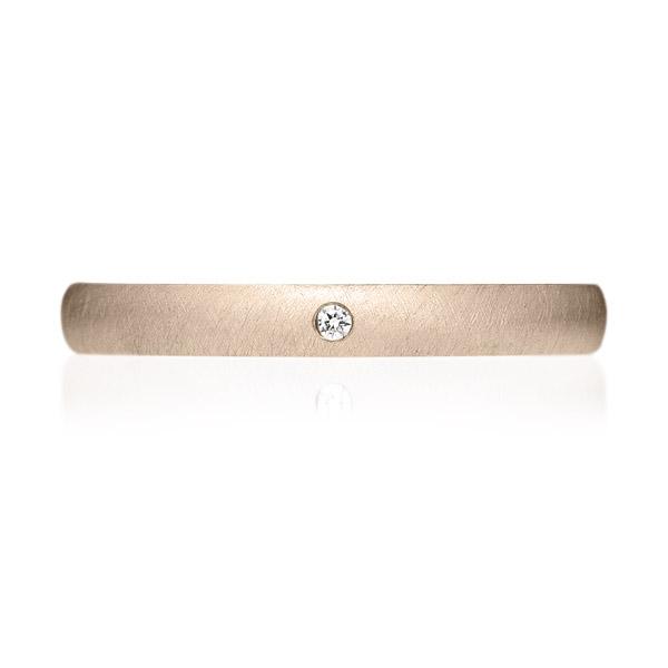 K18CG オーバル ダイヤモンド 1pc リング サティーン 2.5mm 4-14