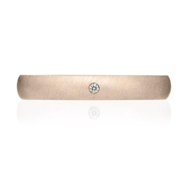 K18CG オーバル ダイヤモンド 1pc リング サティーン 3.0mm 4-14
