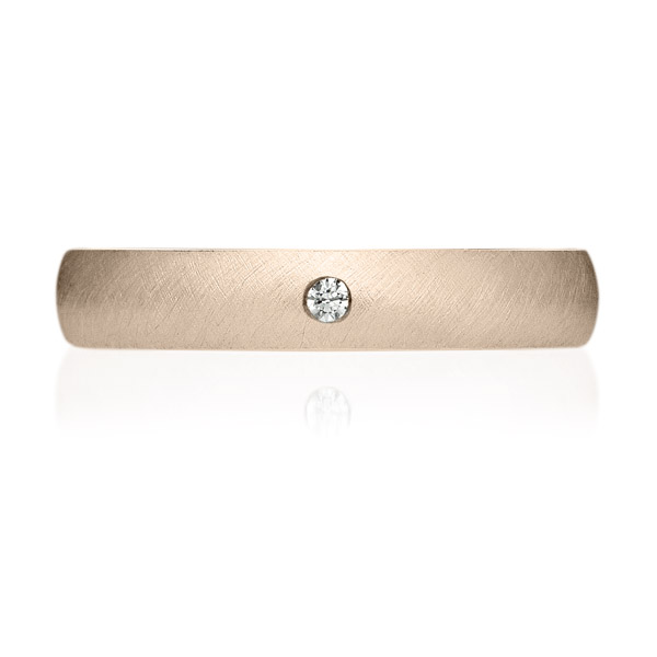 K18CG オーバル ダイヤモンド 1pc リング サティーン 3.5mm 4-14