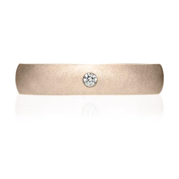 K18CG オーバル ダイヤモンド 1pc リング サティーン 4.0mm 4-14
