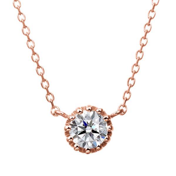 K18PG 12ポイントセッティング ダイヤモンド ネックレス 40cm 0.2ct