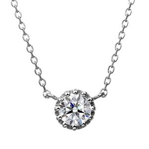 PT900 12ポイントセッティング ダイヤモンド ネックレス 40cm 0.2ct